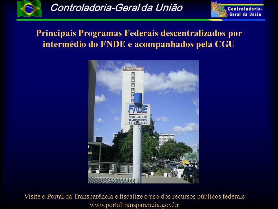 Controladoria-Geral da União Visite o Portal da Transparência e fiscalize o uso dos recursos públicos federais www.portaltransparencia.gov.br Principa