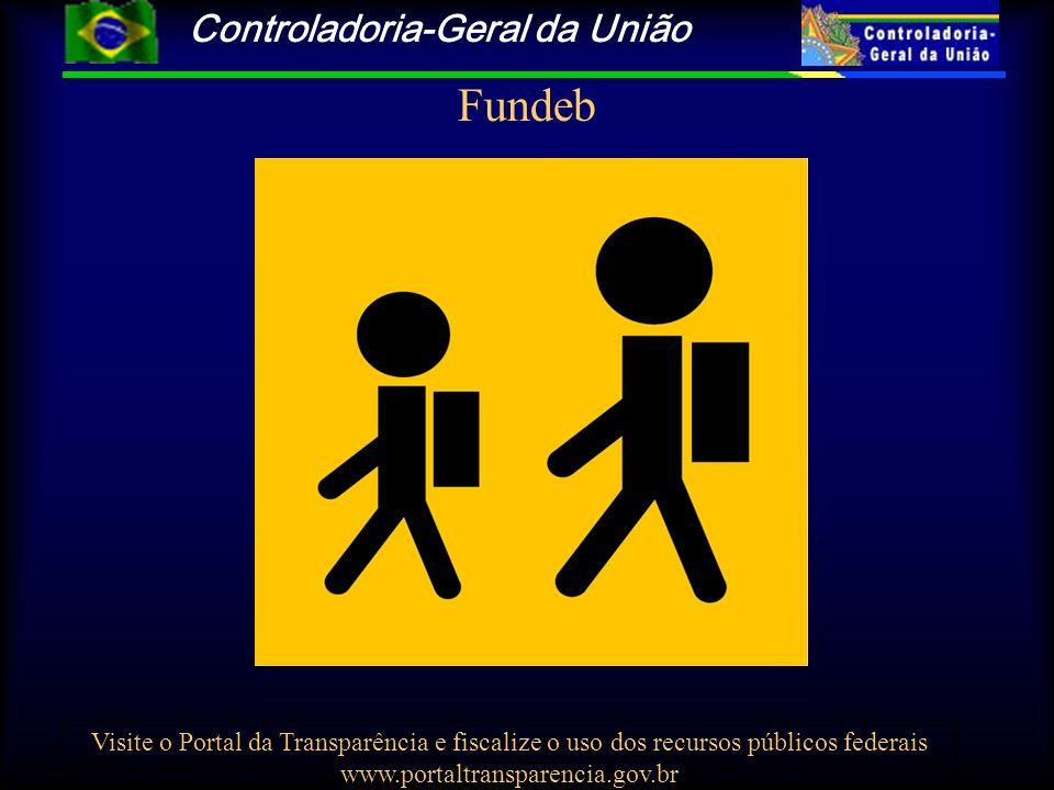 Controladoria-Geral da União Visite o Portal da Transparência e fiscalize o uso dos recursos públicos federais www.portaltransparencia.gov.br Fundeb