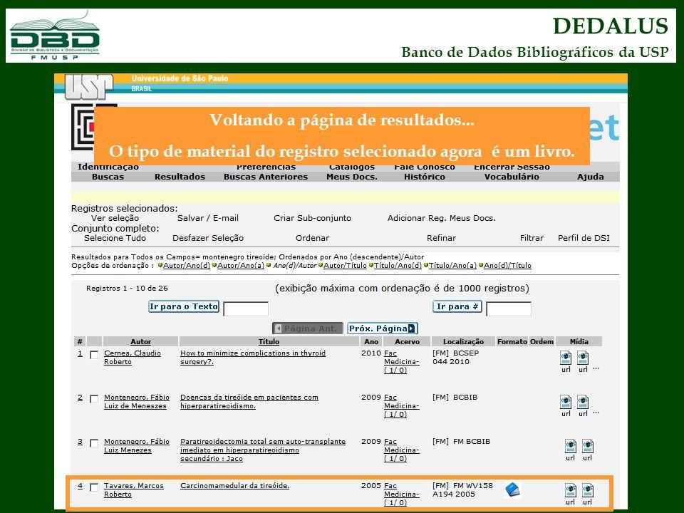 DEDALUS Banco de Dados Bibliográficos da USP Voltando a página de resultados... O tipo de material do registro selecionado agora é um livro.