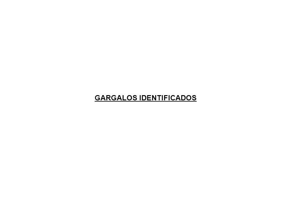 GARGALOS IDENTIFICADOS