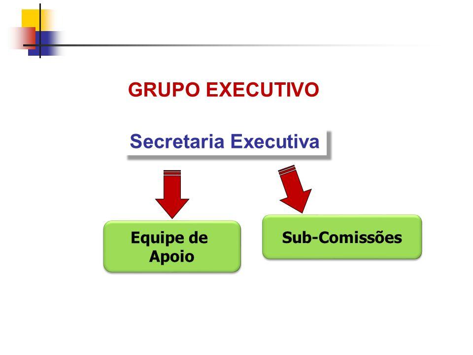 GRUPO EXECUTIVO Secretaria Executiva Equipe de Apoio Equipe de Apoio Sub-Comissões