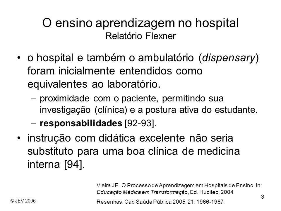 3 o hospital e também o ambulatório (dispensary) foram inicialmente entendidos como equivalentes ao laboratório. –proximidade com o paciente, permitin