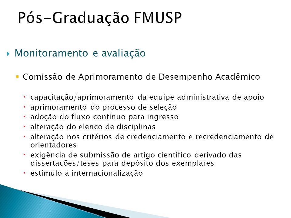 Monitoramento e avaliação Comissão de Aprimoramento de Desempenho Acadêmico capacitação/aprimoramento da equipe administrativa de apoio aprimoramento