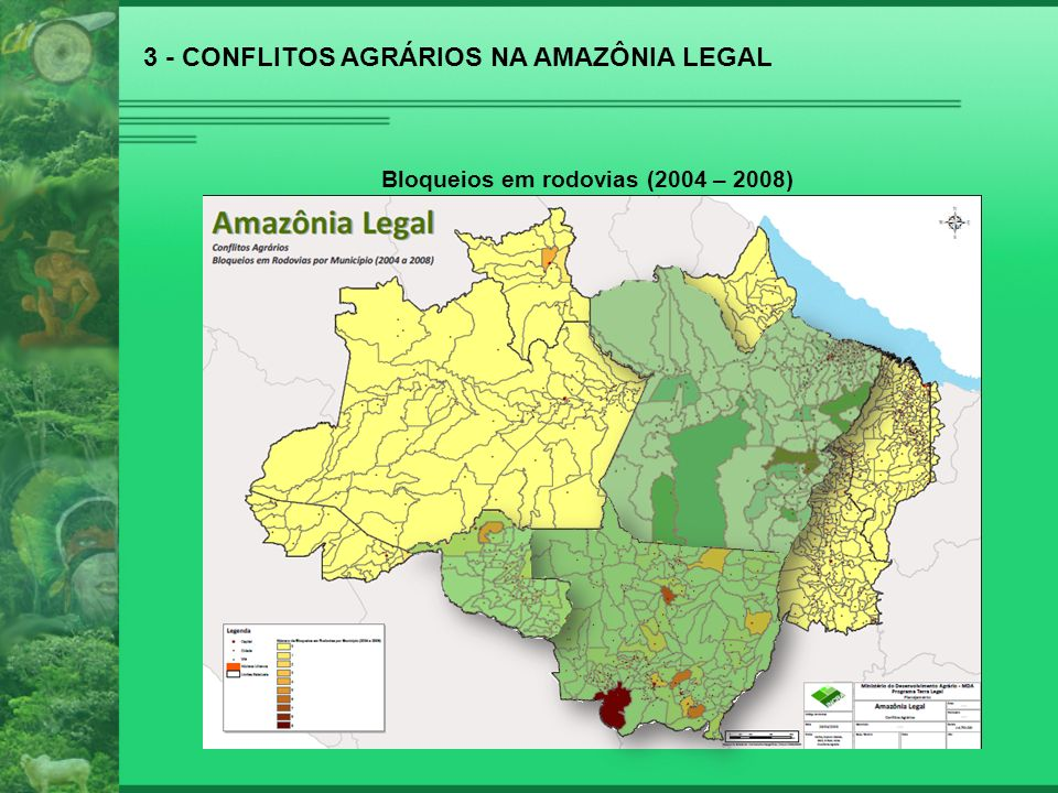 6 – Ponderações a) Programa Terra Legal – base de dados do Ministério do Desenvolvimento Agrário (MDA) – 67 milhões de hectares em terras da União; b) Constituição da República - Art.