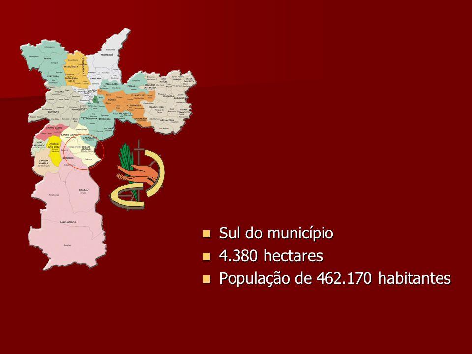 Sul do município Sul do município 4.380 hectares 4.380 hectares População de 462.170 habitantes População de 462.170 habitantes