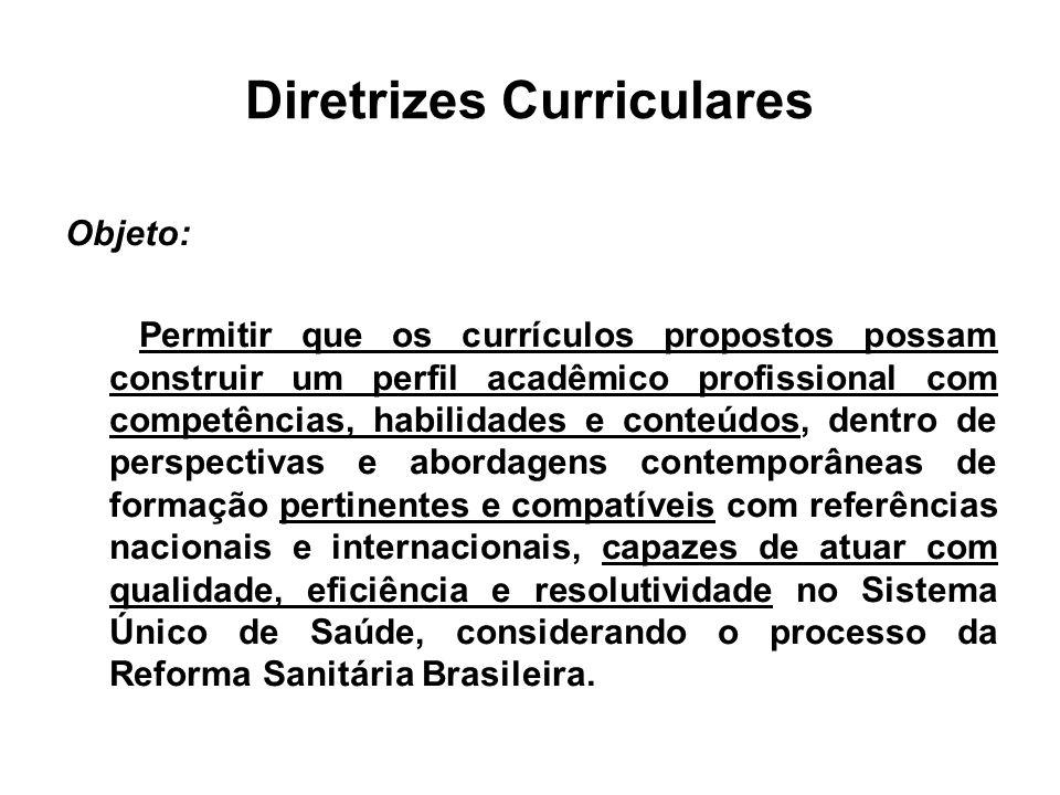 Diretrizes Curriculares Discussão: início com Edital nº04/97 do MEC IES: envio de propostas das Diretrizes Curriculares Foram enviadas 1200 propostas: