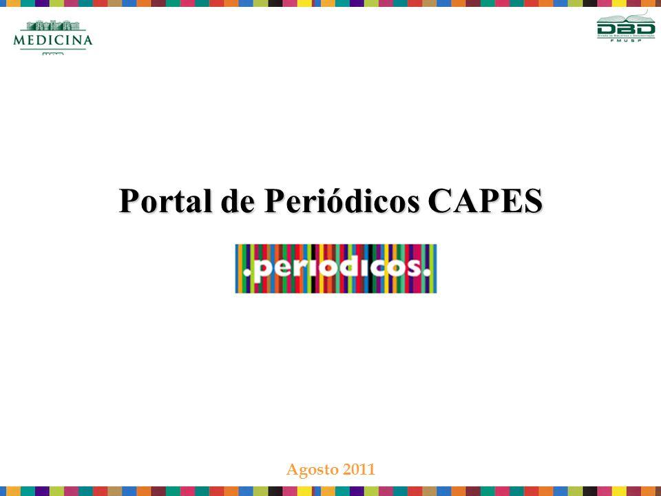 Portal de Periódicos CAPES Agosto 2011