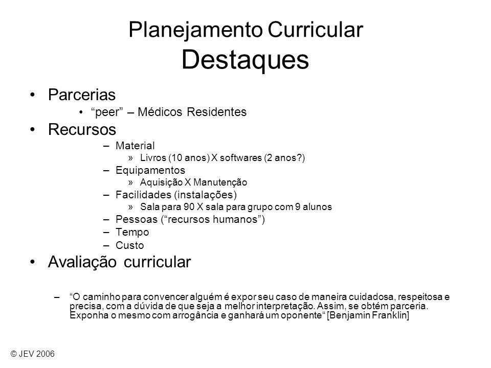 Parcerias peer – Médicos Residentes Recursos –Material »Livros (10 anos) X softwares (2 anos?) –Equipamentos »Aquisição X Manutenção –Facilidades (ins