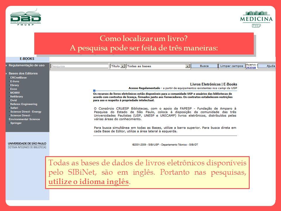 Clique no ícone, para acessar o texto completo Tela de resultados 61 títulos recuperados.