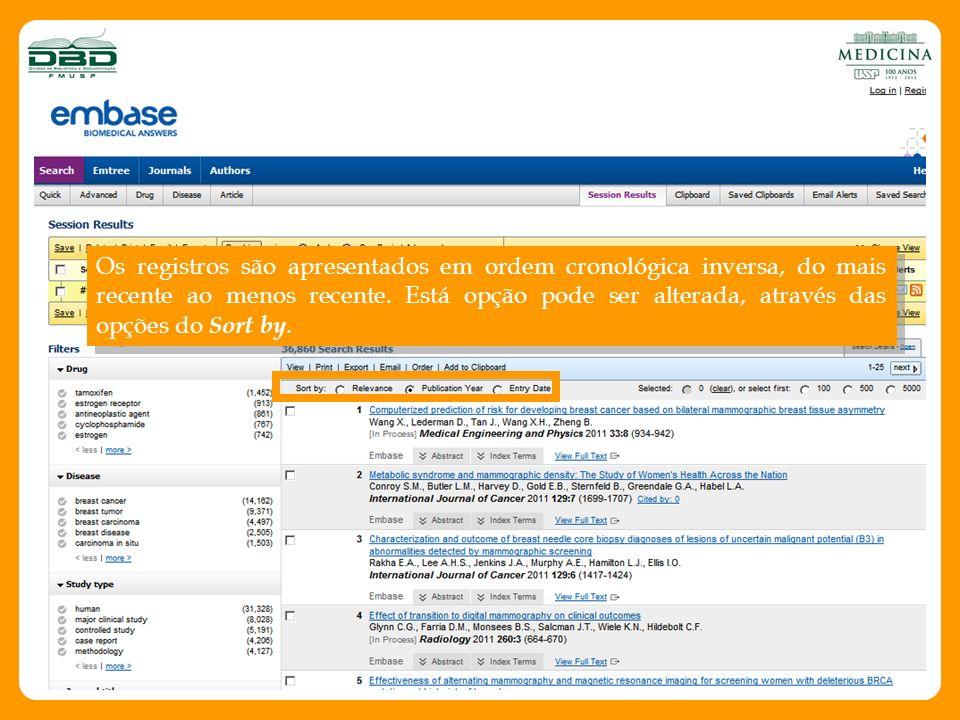 Busca por Artigos Preencha os campos de busca com dados do artigo a ser pesquisado e clique em Search.