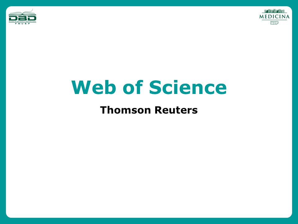 Web of Science Thomson Reuters