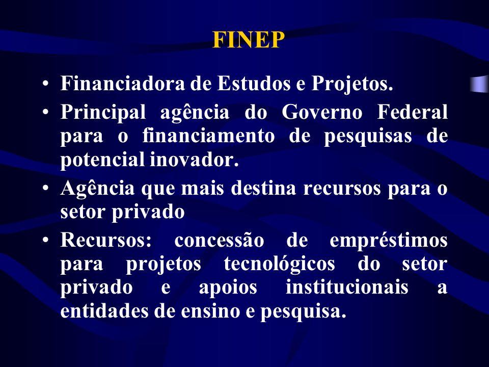 FINEP Financiadora de Estudos e Projetos.