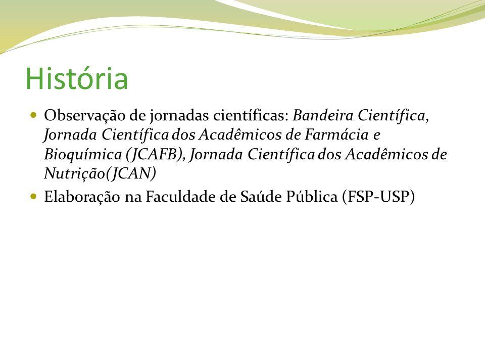 História Observação de jornadas científicas: Bandeira Científica, Jornada Científica dos Acadêmicos de Farmácia e Bioquímica (JCAFB), Jornada Científi