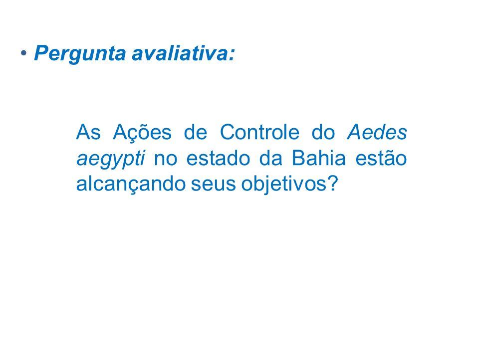 As Ações de Controle do Aedes aegypti no estado da Bahia estão alcançando seus objetivos? Pergunta avaliativa: