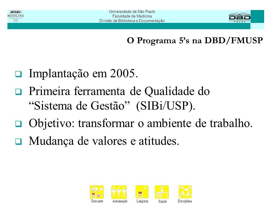 DescarteArrumaçãoLimpeza Saúde Disciplina Universidade de São Paulo Faculdade de Medicina Divisão de Biblioteca e Documentação Obrigada.