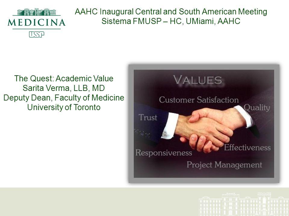 O Sistema FMUSP – HC Um Sistema Acadêmico de Saúde