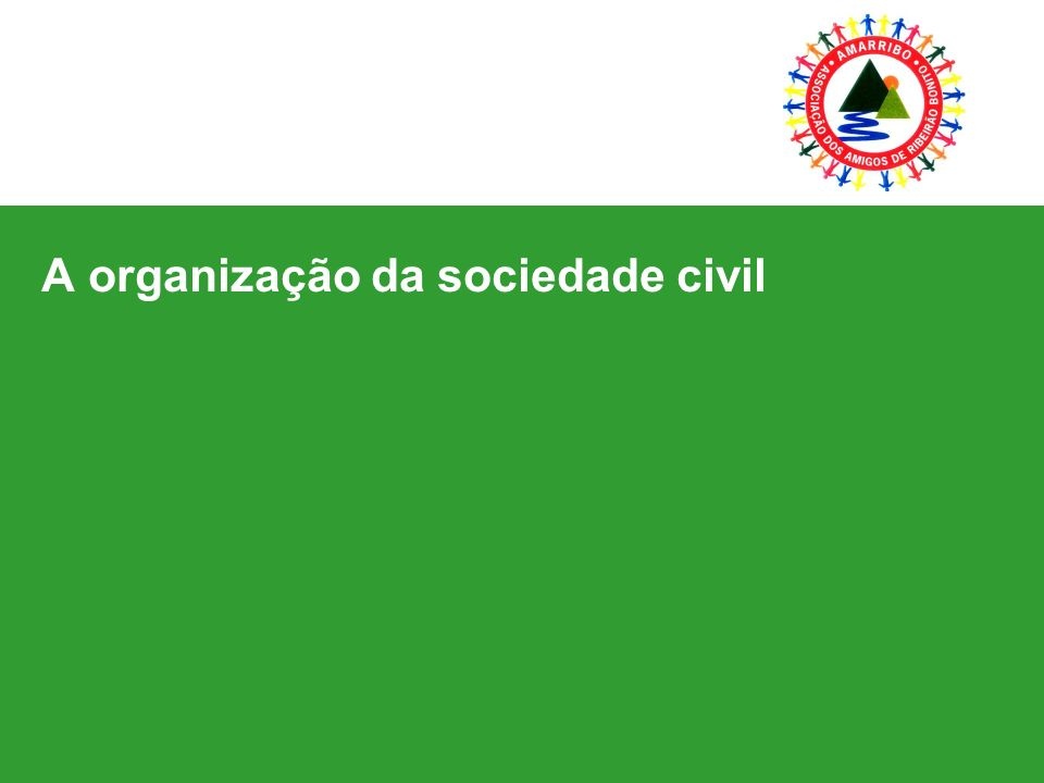A organização da sociedade civil