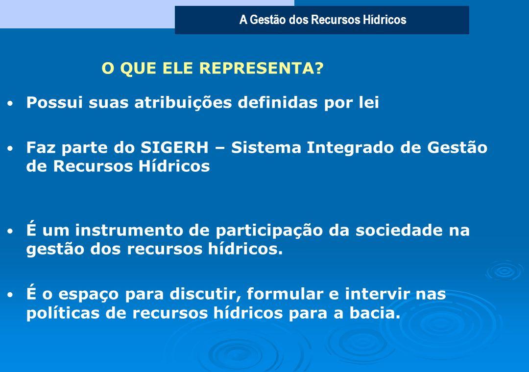 A Gestão dos Recursos Hídricos Os Comitês de Bacia Hidrográfica - CBHs, são órgãos colegiados integrantes do Sistema Integrado de Gestão dos Recursos
