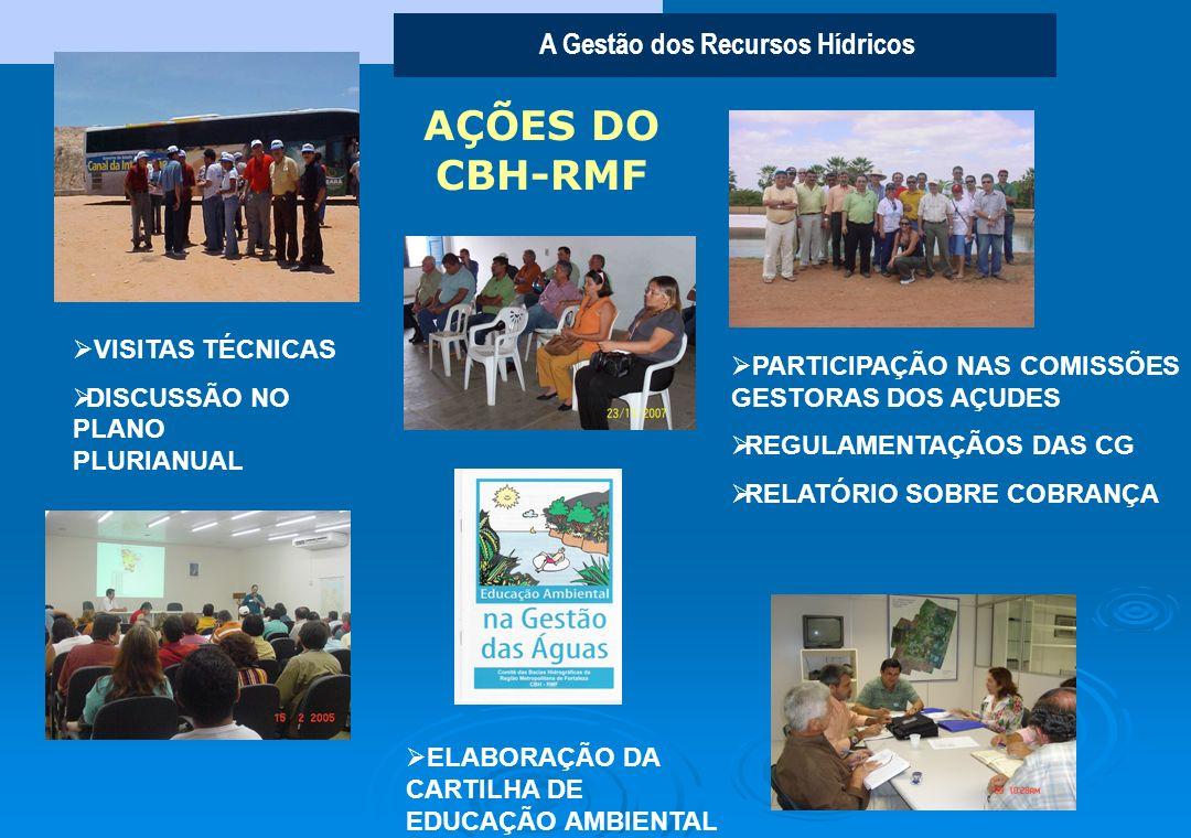 A Gestão dos Recursos Hídricos A IMPORTÂNCIA DO COMITÊ DAS BACIAS HIDROGRÁFICAS DA REGIÃO METROPOLITANA DE FORTALEZA (CBH-RMF) O CBH-RMF representa um