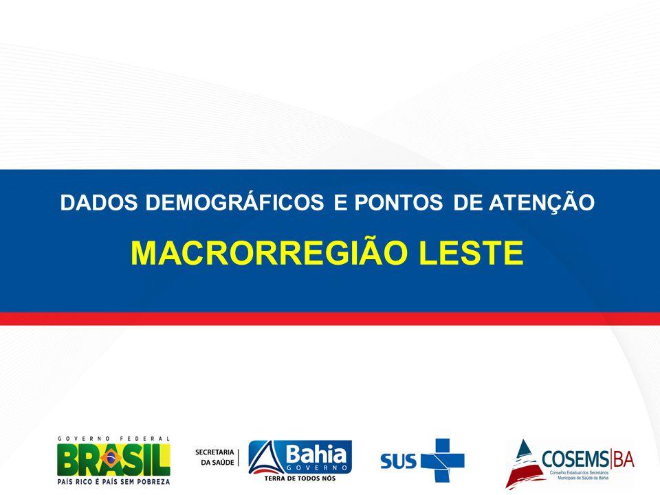 DADOS DEMOGRÁFICOS E PONTOS DE ATENÇÃO MACRORREGIÃO LESTE