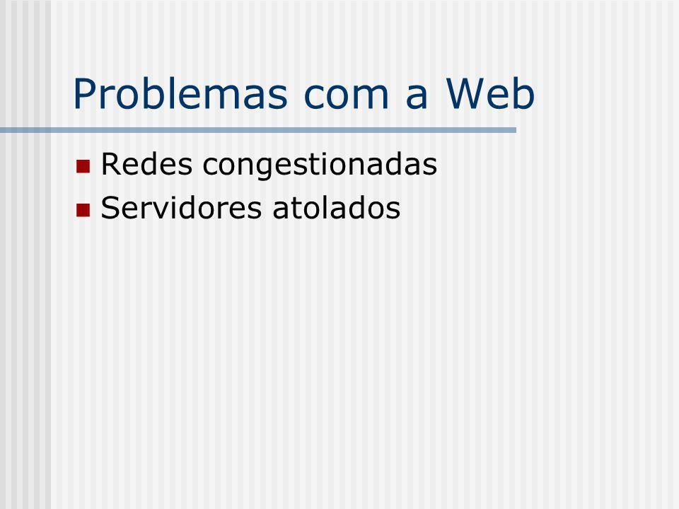 Problemas com a Web Redes congestionadas Servidores atolados