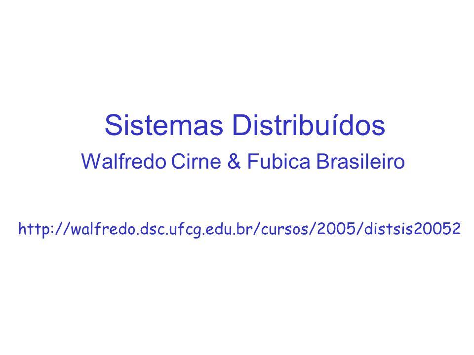 Sistemas Distribuídos Walfredo Cirne & Fubica Brasileiro http://walfredo.dsc.ufcg.edu.br/cursos/2005/distsis20052