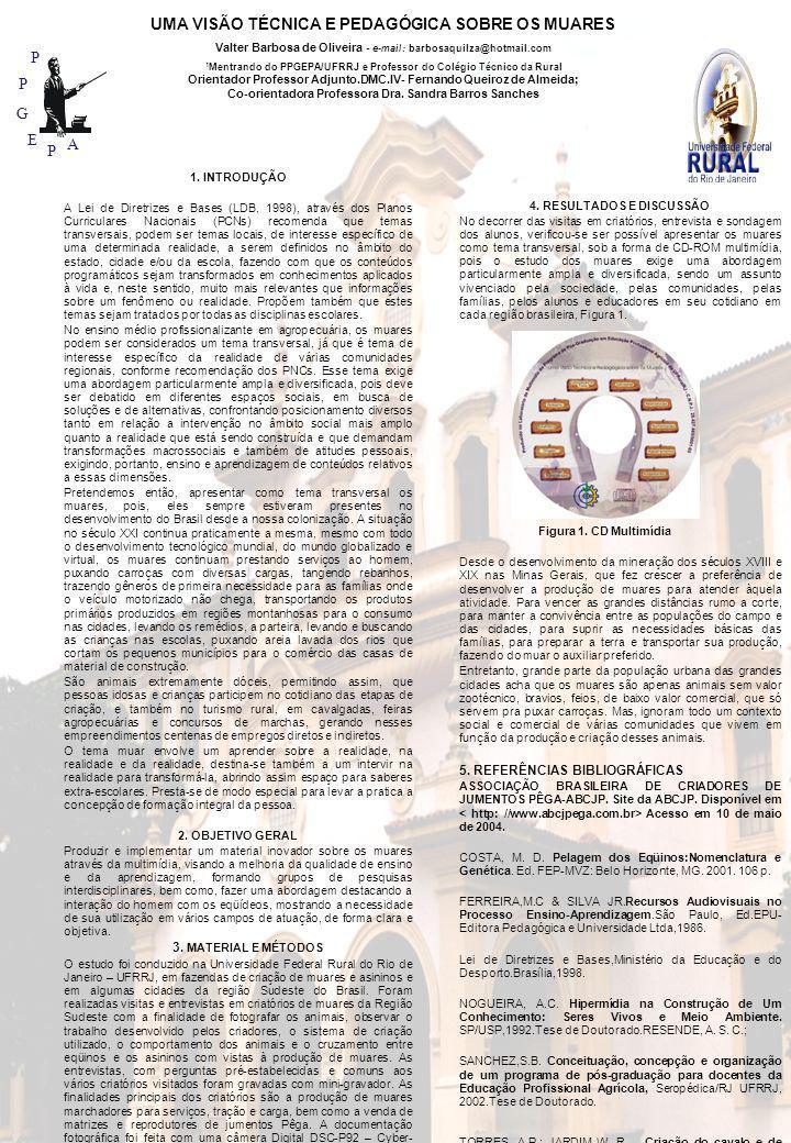 P P G E P A Valter Barbosa de Oliveira - e-mail: barbosaquilza@hotmail.com 1 Mentrando do PPGEPA/UFRRJ e Professor do Colégio Técnico da Rural Orienta