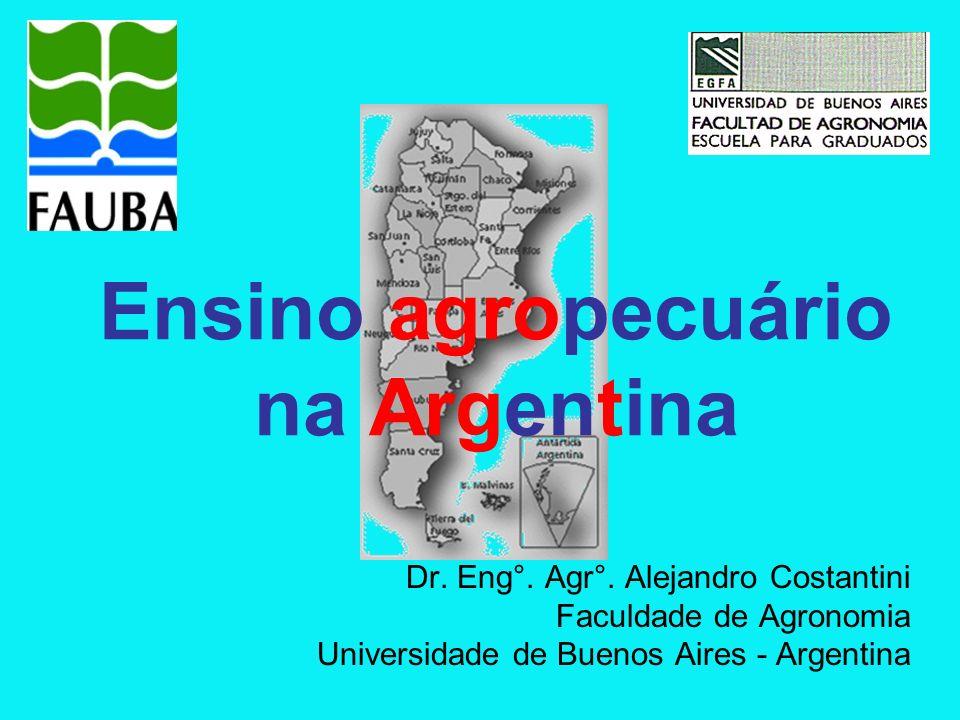Visão geral da educação na Argentina Educação técnica Educação agropecuária Educação agropecuária superior