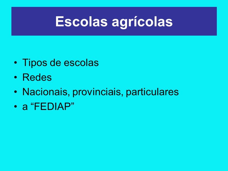 Quantidade de serviços educativos agropecuários médios na Argentina.