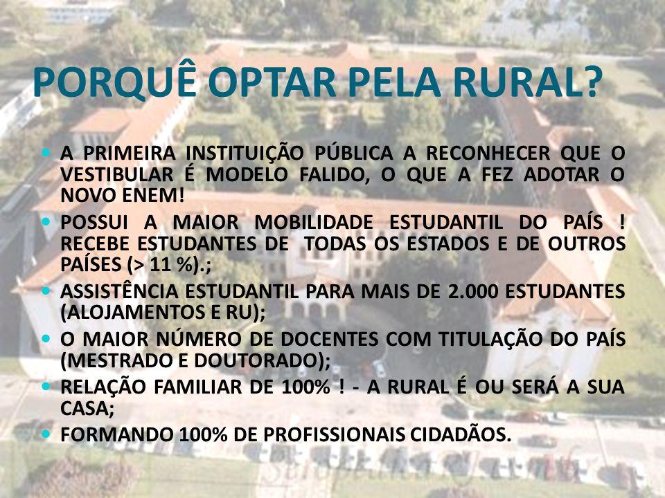 PORQUÊ OPTAR PELA RURAL.