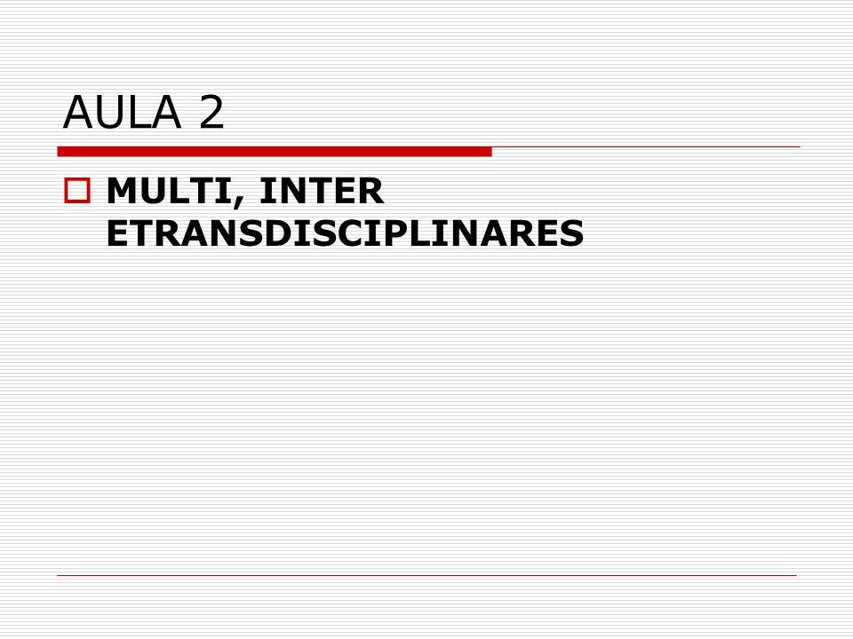 AULA 2 MULTI, INTER ETRANSDISCIPLINARES