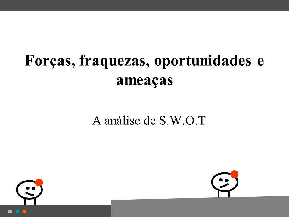 Forças, fraquezas, oportunidades e ameaças A análise de S.W.O.T