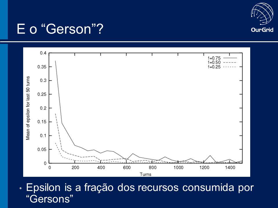 E o Gerson Epsilon is a fração dos recursos consumida por Gersons