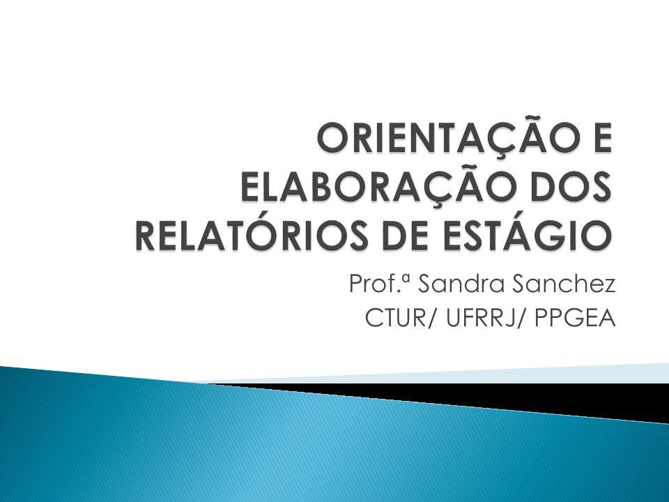 Prof.ª Sandra Sanchez CTUR/ UFRRJ/ PPGEA