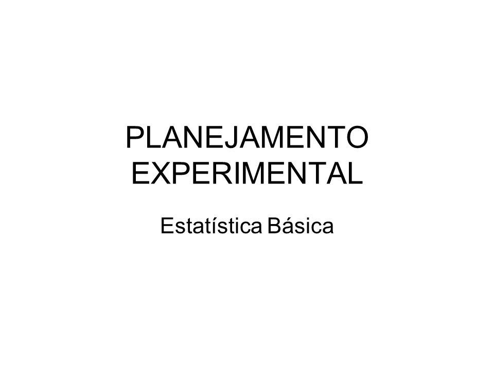 PLANEJAMENTO EXPERIMENTAL Estatística Básica