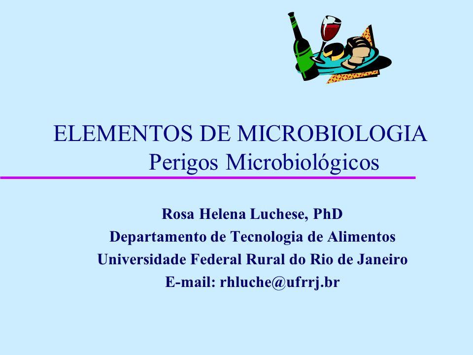 ELEMENTOS DE MICROBIOLOGIA Perigos Microbiológicos Rosa Helena Luchese, PhD Departamento de Tecnologia de Alimentos Universidade Federal Rural do Rio