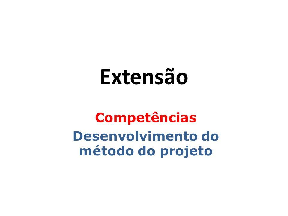 Extensão Competências Desenvolvimento do método do projeto