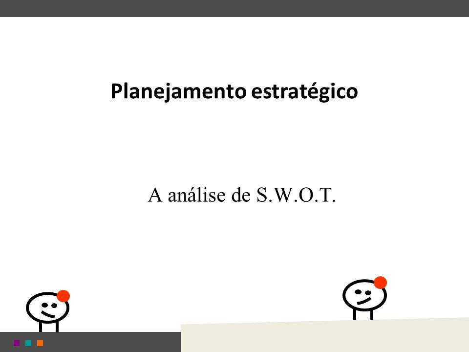 Planejamento estratégico A análise de S.W.O.T.