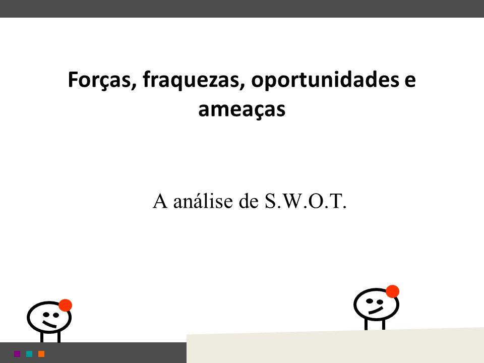 Forças, fraquezas, oportunidades e ameaças A análise de S.W.O.T.