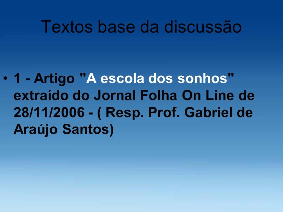Textos base da discussão 1 - Artigo