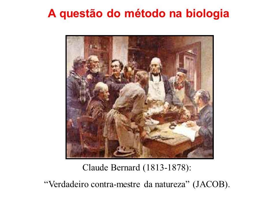 A questão do método na biologia Claude Bernard (1813-1878): Verdadeiro contra-mestre da natureza (JACOB).