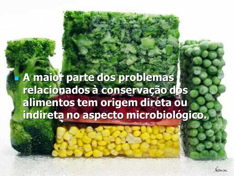 A maior parte dos problemas relacionados à conservação dos alimentos tem origem direta ou indireta no aspecto microbiológico. A maior parte dos proble