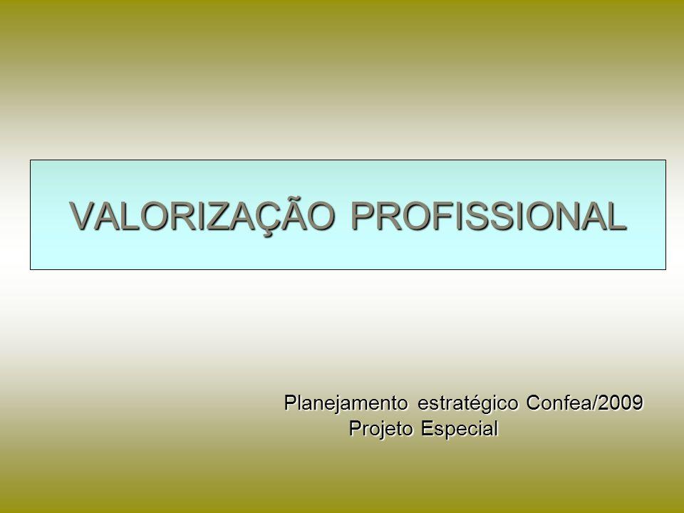 VALORIZAÇÃO PROFISSIONAL Planejamento estratégico Confea/2009 Planejamento estratégico Confea/2009 Projeto Especial