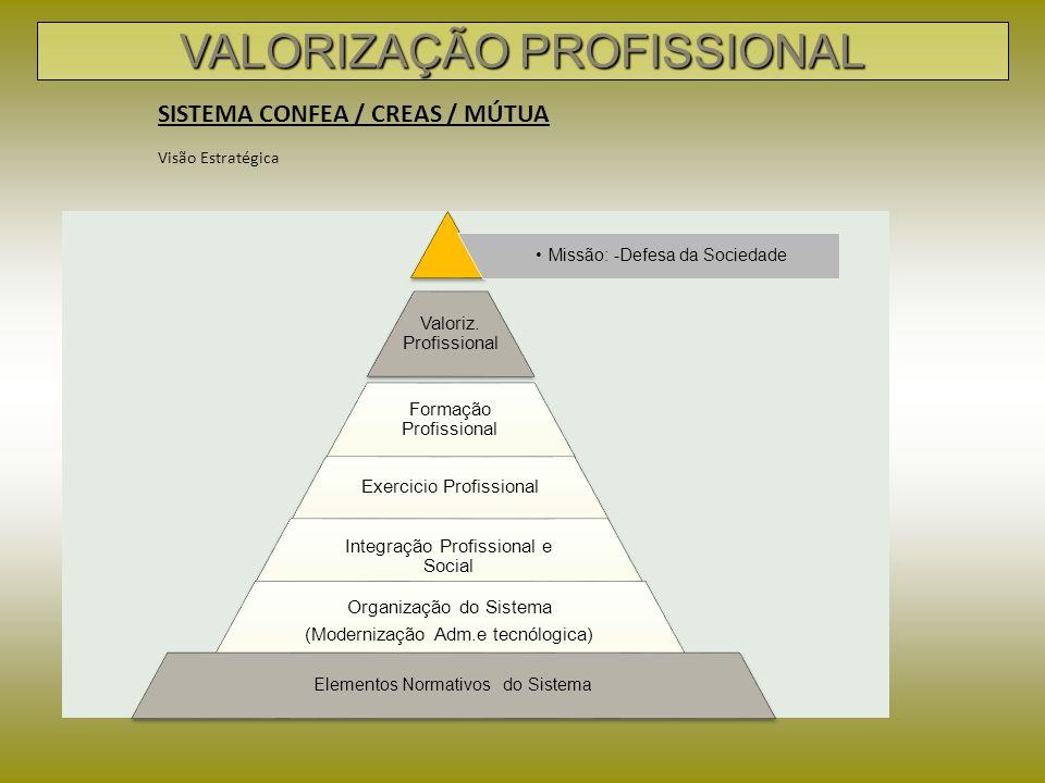 Valoriz. Profissional Formação Profissional Exercicio Profissional Integração Profissional e Social Missão: -Defesa da Sociedade Organização do Sistem