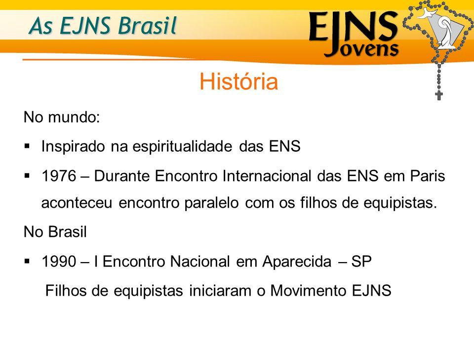 As EJNS Brasil Objetivo Propiciar ao jovem o crescimento espiritual em equipe, tendo Maria como exemplo de santidade.