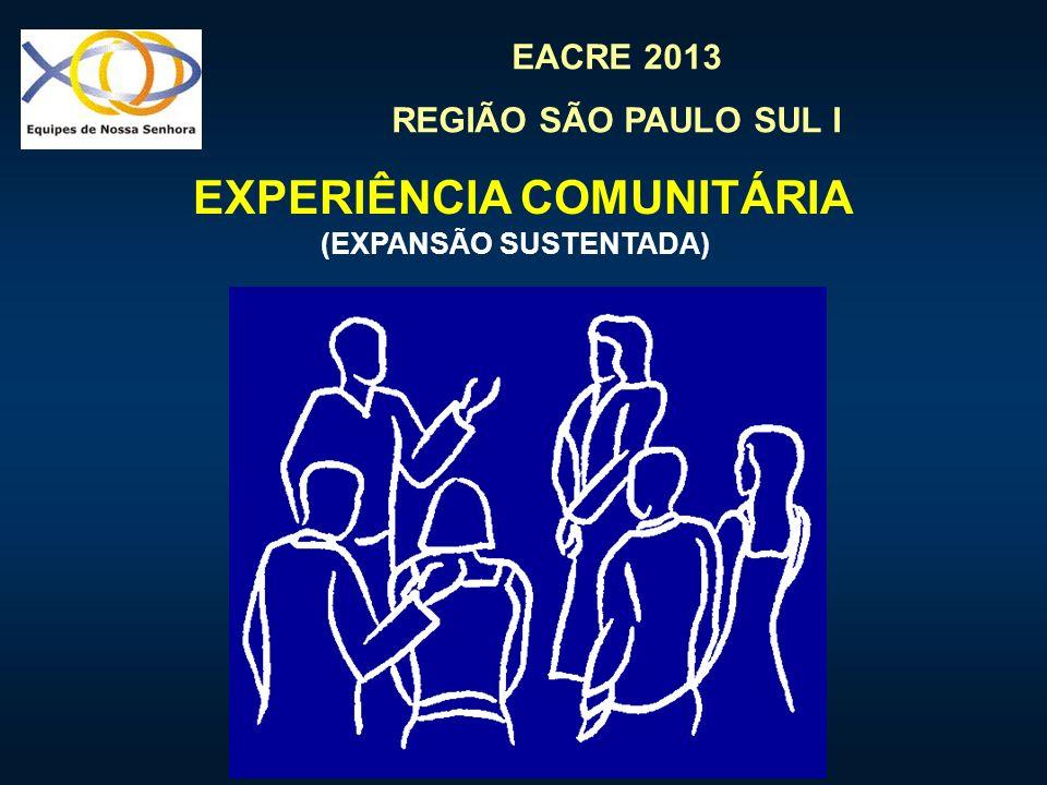 EACRE 2013 REGIÃO SÃO PAULO SUL I EXPERIÊNCIA COMUNITÁRIA (EXPANSÃO SUSTENTADA)