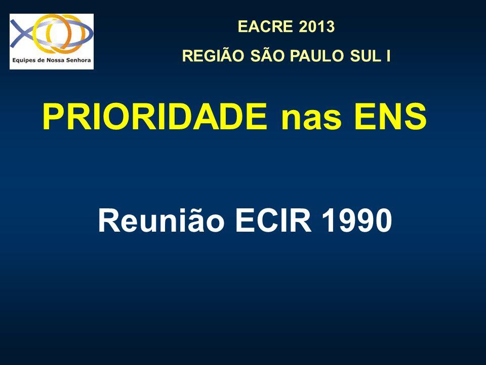 EACRE 2013 REGIÃO SÃO PAULO SUL I COMUNICAÇÃO Priorizar a comunicação significa primeiramente buscar o diálogo e a compreensão com Deus Como.