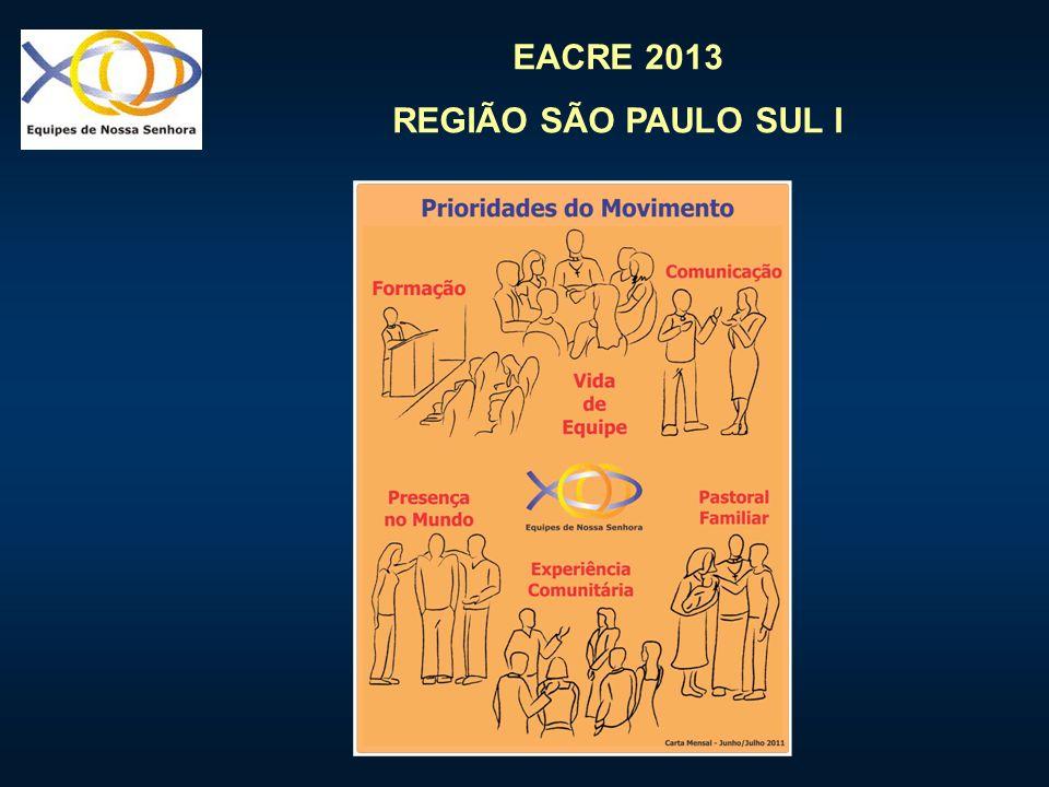 EACRE 2013 REGIÃO SÃO PAULO SUL I EXPANSÃO SUSTENTADA MAIS VALEM QUINHENTAS EQUIPES FORTES DO QUE CINCO MIL MEDÍOCRES.