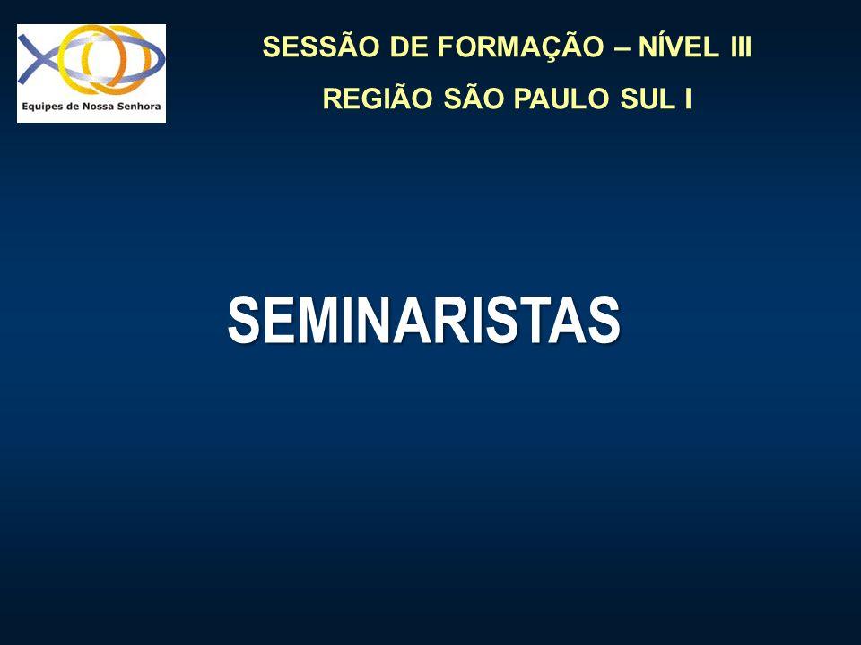 SESSÃO DE FORMAÇÃO – NÍVEL III REGIÃO SÃO PAULO SUL I SEMINARISTAS