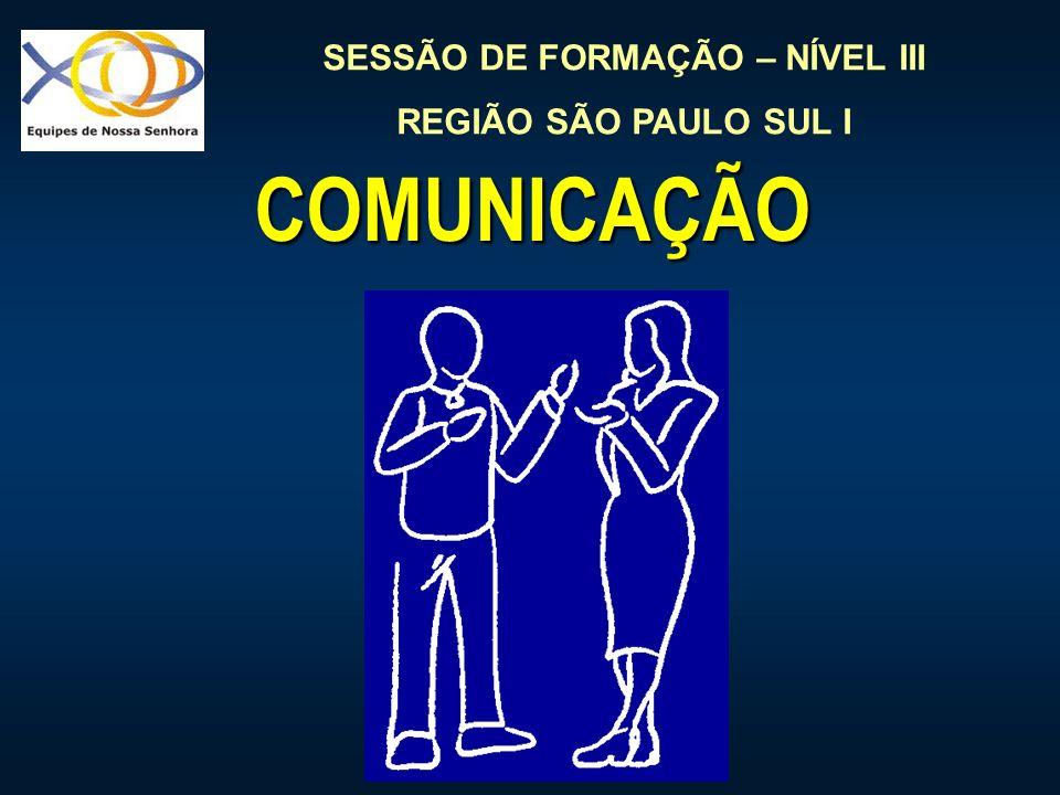 SESSÃO DE FORMAÇÃO – NÍVEL III REGIÃO SÃO PAULO SUL I COMUNICAÇÃO